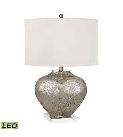 Amazon.com: Lámpara de mesa con 2 lámparas de cristal de ...