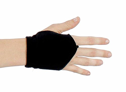 Veracious Velvet Fingerless Mitt Finale Gloves, Black