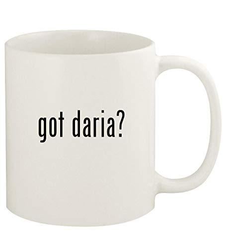 got daria? - 11oz Ceramic White Coffee