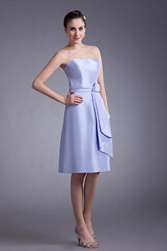 Kurz Abendkleid Satin GEORGE Einfache Brautjungfer BRIDE Kleid traegerlosen Flieder O0qwBtwxR