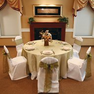 Ivory Wedding Banquet Chair Cover  Round Top Type(set Of 10) By Summerfield
