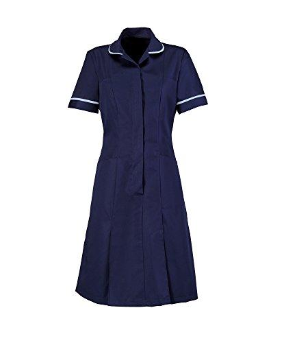 Alexandra Workwear Womens Zip Front Healthcare Dress Navy 24 U