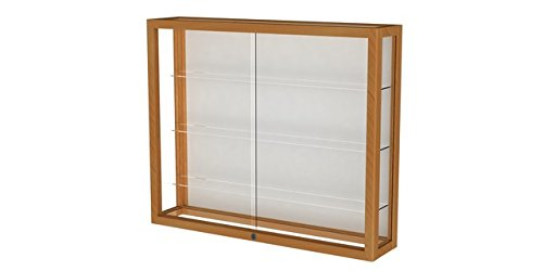 Heirloom Series Display Case - Heirloom Series Wall Display Case Frame Color: Autumn Oak, Case Backing: White