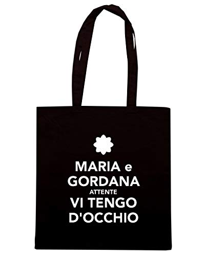 CALM KEEP Borsa Shirt ATTENTE E D'OCCHIO Speed AND GORDANA TENGO VI Nera TKC0543 Shopper MARIA xAYXXn1