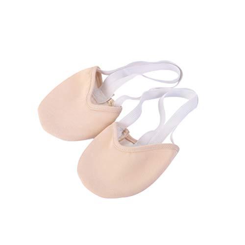 Healifty Calcetines Antideslizantes para Ballet y Yoga Suelo para Zapatos de Bailarinas de Ballet y Competición de Gimnasia Rítmica Talla XL Color de Piel
