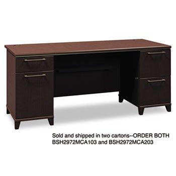 (BSH2972MCA103 - Bush 72amp;quot; W Double Pedestal Desk B/B/F)