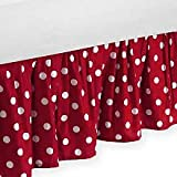 Sweet Jojo Designs Polka Dot Ladybug Bed Skirt for Toddler Bedding Sets
