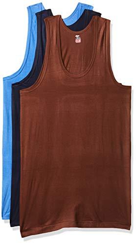 Rupa Jon Men #39;s Solid Vest  Pack of 3