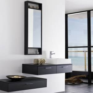 meuble salle de bain suspendu tiroir