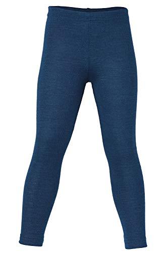 Kids Thermal Underwear: Leggings Pants Base Layer, Organic Merino Wool and Silk (EU-140 | 8-10 years, Blue)