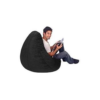 This Item Large Black Plush Large Bean Bag Cover