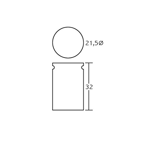Cylinder P-10Bin, Metal, Black, 32x 21.5cm