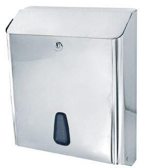Marplast towelinox dispensador de toallas de papel de acero inoxidable pulido MP 802 - gelt. C de pliegue,, pliegue v, Z de pliege: Amazon.es: Hogar
