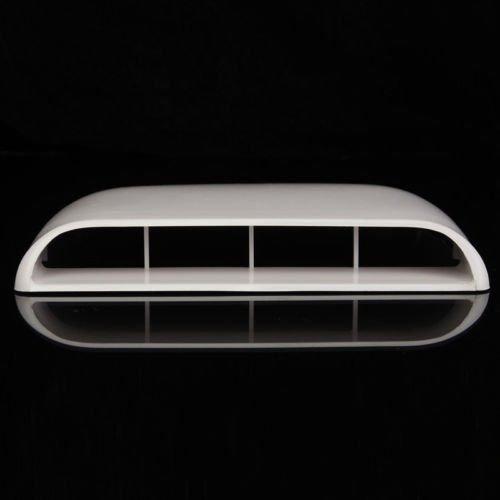 Auto-Lufteinlass, dekorative Luft/ö ffnung, Lufthutze f/ü r Motorhaube, wei/ß , universell einsetzbar LILAUTO
