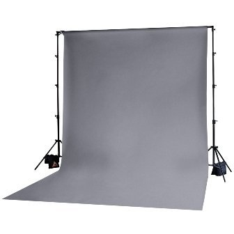 Photoflex DPMCK003 10x20 Grey Muslin BackDrop by Photoflex