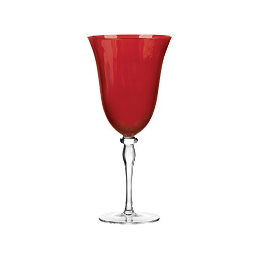 Qualia Glass Rouge All Purpose Goblet Wine Glass, Garnet Red, Set of 4 ()