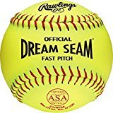 Dream Seam Softballs (Rawlings Official ASA NFHS Dream Seam Fastpitch Softballs, 12 Count, C11RYSA)