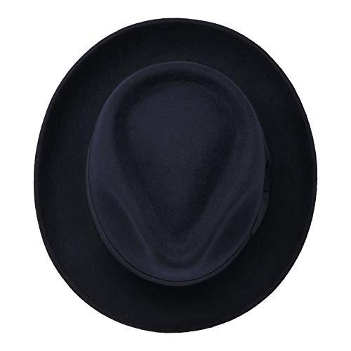 A Fedora LanaRipiegabile ViaggioImpermeabileUnisex Premium B In DoyleCappello amp;s Goccia Di Blu 100Feltro Scuro 0k8wnPNOX
