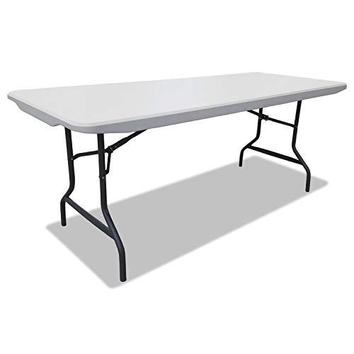 - Alera 65600 Resin Rectangular Folding Table, Square Edge, 72w x 30d x 29h, Platinum