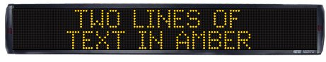 Two-line Amber Indoor Window LED Sign, 16x128 (Amber Led Window Sign Displays)
