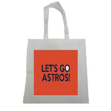 Let's Go Houston Astros World Series Halloween Trick Or Treat Polyester White Tote Bag 15x16x (Houston Halloween Trick Or Treat)