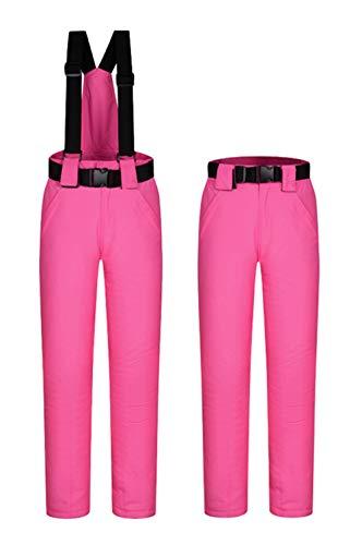 Women's Snow Pants Outdoor Waterproof Windproof Ski Pants Warm Snowboard Pants Rose Pink US XL