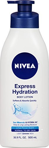 NIVEA Express Hydration Body Lotion Lotus Flower Scent 16.9