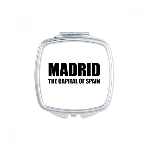 Madrid The Capital Of Spain Square Compact Makeup Mirror Portable Cute Hand Pocket Mirrors Gift by DIYthinker