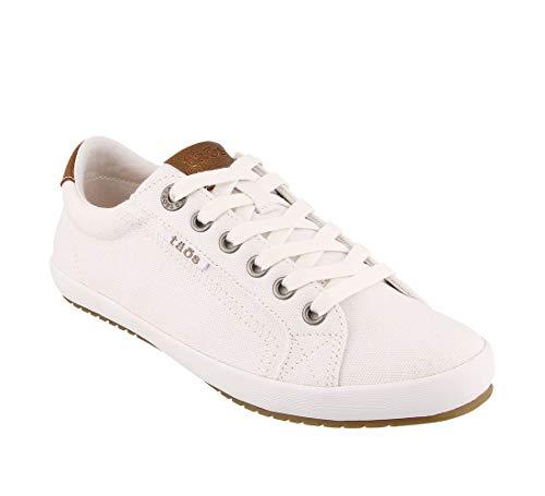 Taos Footwear Women's Star Burst White/Tan Sneaker 9.5 M US