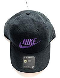 055fee3aee Nike Hat Cap Black with Purple Swoosh OSFA 626305 015
