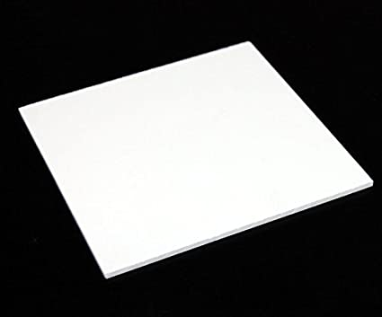 DELITE Cast Acrylic Sheet - White - 6 x 6 inches - Thickness 3mm (4 pcs  Pack)