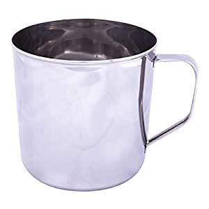 Raj 12.5 cm Stainless Steel Mug, Silver-NM0012