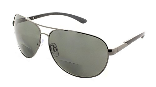 Polarized Aviator Bifocal Sunglasses Sun Reader for Men and - Aviator Reading Sunglasses