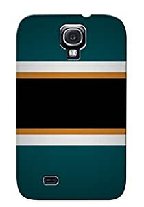 Defender Case For Galaxy S4, Hockey San Jose Sharks Pattern, Nice Case For Lover's Gift