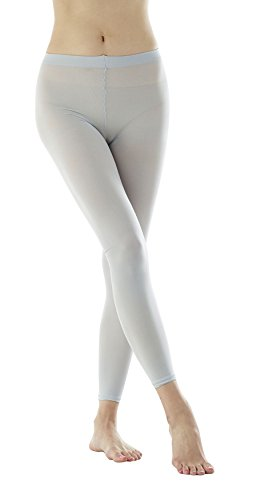 Women's 80Denier Semi Opaque Solid Color Footless Pantyhose Tights