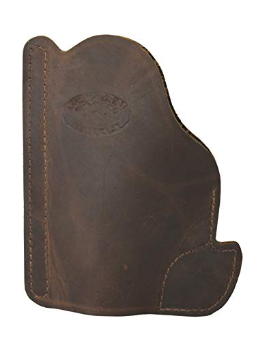 Barsony Brown Leather Gun Concealment Pocket Holster for SIG P938 ()