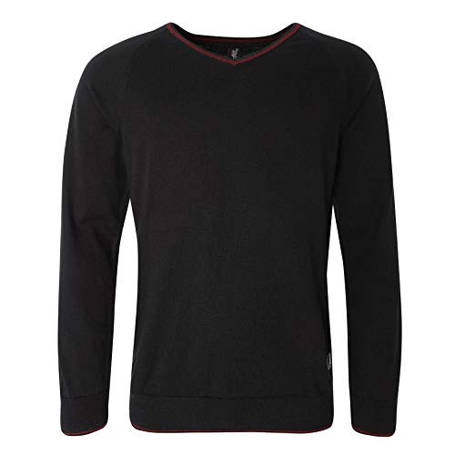 (Liverpool FC Black Mens Football Signature Sweater AW 18/19 LFC Official)