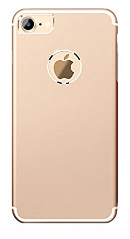 iPhone 7 Case Gold, Roybens Luxury Textured Metal and TPU Hybrid Design Slim Fit Dual Layer Drop Protection Armor Ultra Thin Hard Back Cover for Apple iPhone7, [Free Tempered Glass Screen - Sox Metal