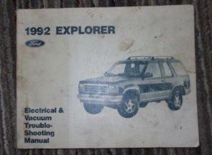 1992 FORD AEROSTAR MINI VAN Electrical Wiring Diagrams Service Shop Manual EWD