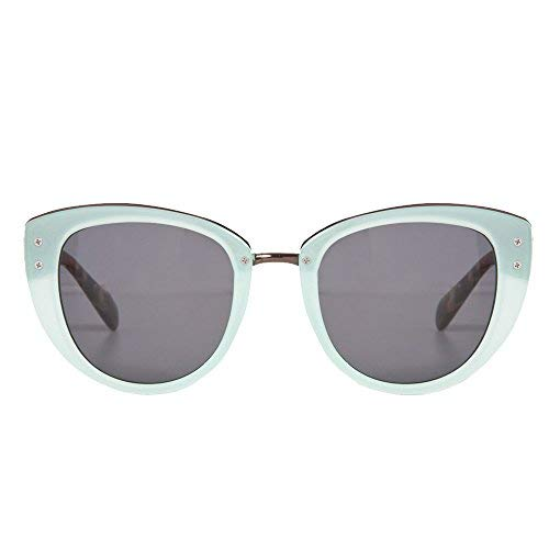 Ladies Mint Green Retro Sunglasses with Gold Bridge and Smoke Lenses]()