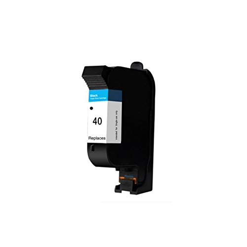 Black Ink Cartridge Compatible hp40 51640A Replaces for HP 40 Designjet 230 250c 330 350c 430 450c Printer (40BK X1)