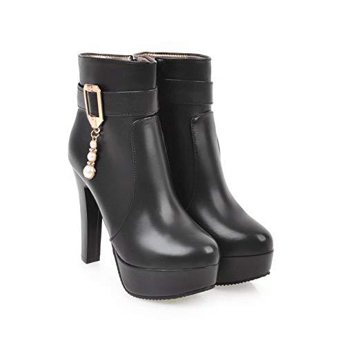 Misssasa Boots Stivaletti Elegante Donna Nero Sala YBw0Yrg