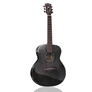 Akustikgitarre 36″ Klassikgitarre Westerngitarren Starter-Kit Mit Leistungstasche Stahlschnur Gurt Furchtlos Kindergitarre Studentengitarre Handgemacht, 5 Farben Gdming (Color : A)