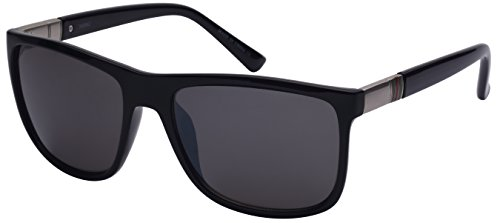 Edge I-Wear Men's Square Plastic Frame Sunglasses with Flash Mirrored Lens - I Eyes Wear To Protect Sunglasses A