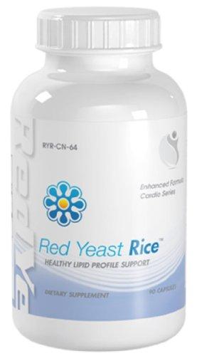 Levure de riz rouge avec prise en charge du cholestérol CoQ10 90 capsules 1 Bouteille