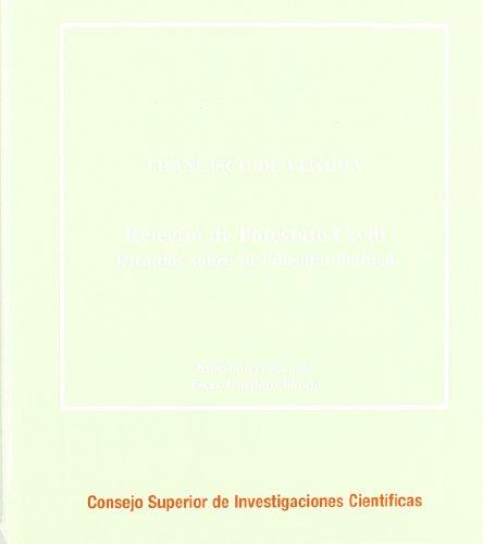 Relectio de potestate civili: Estudios sobre su filosofía política (Corpus Hispanorum de Pace) por Francisco de Vitoria