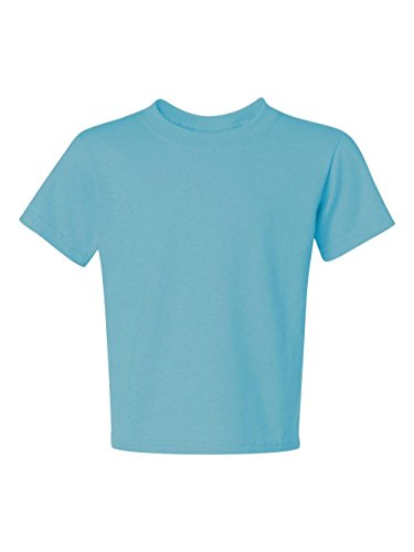 Jerzees Heavyweight Blend Youth Tee (Aquatic Blue) (S) (Blend Heavyweight Jerzees Youth)