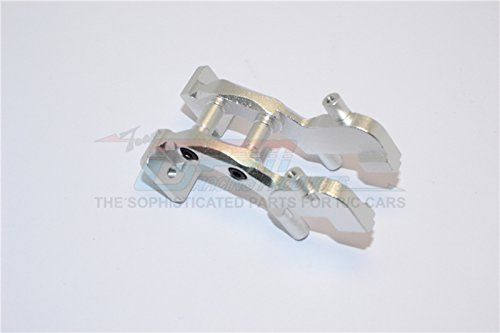 Traxxas 1/16 Mini E-Revo Upgrade Parts Aluminum Rear Wing Mount - 1 Set Silver - Rear Wing Mount Set