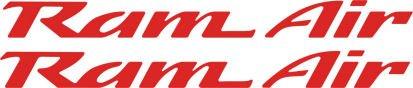 Air Pontiac Firebird Ram - Pontiac Ram Air Hood Decals for Firebird , Trans Am, WS6, Formula (Red)