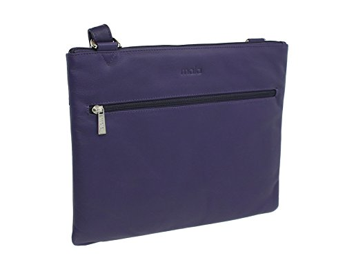 Mala de piel ANISHKA Colección de cuero del hombro/Cross Body Bag 7133_75 Caramelo Púrpura